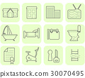 Real estate and amenities icons 30070495