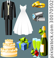 Wedding icons 30070502