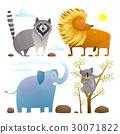 สัตว์,สิงโต,ช้าง 30071822