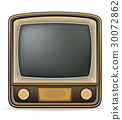 tv old retro vintage icon vector illustration 30072862