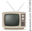 tv old retro vintage icon vector illustration 30072863