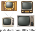 tv old retro vintage set icons vector illustration 30072867