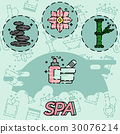 SPA flat concept icons 30076214