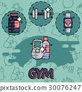 gym vector flat 30076247