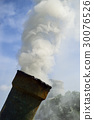 smoke from pipe of incinerator for making charcoal 30076526