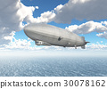 Airship over the sea 30078162