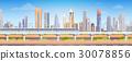 skyscraper, city, vector 30078856
