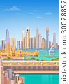 skyscraper, city, vector 30078857