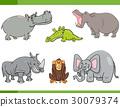 wild animals cartoon set 30079374