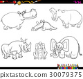 animal characters coloring page 30079375