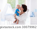 baby, mother, bedroom 30079962