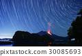 Sakurajima night view eruption star trail 30085693
