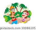 훌라 하와이안 댄스 30086105