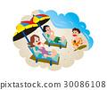 beach, beaches, umbrella 30086108