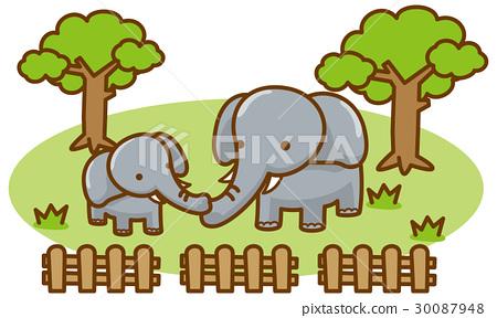 大象 矢量 陸生動物 30087948