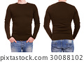 shirt, back, brown 30088102