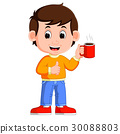 young man drinking coffee 30088803