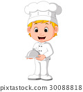 chef holding vector 30088818