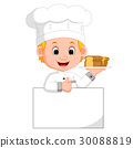 funny chef and sign board 30088819