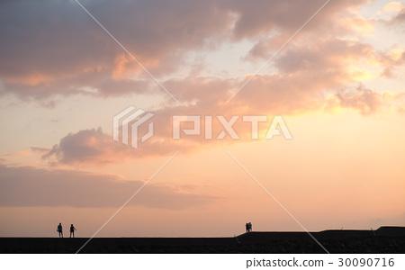 日落的海邊 30090716