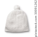 White winter knitted cap 30091262