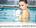 young woman beauty portrait in water 30092809