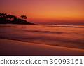 Calm peaceful ocean and beach on tropical sunrise 30093161