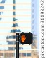 American traffic light, for pedestrians, stop 30093242