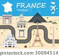 France Landmark Global Travel Infographic. 30094514
