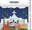 Sweden Landmark Global Travel Infographic. 30094544