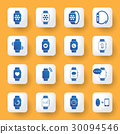 application design icons set. digital watch. 30094546
