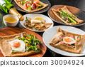 蕎麥麵粉縐gullette galette法國食物 30094924