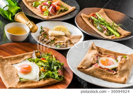 메밀 크레이프 가렛 galette French food 30094924