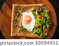 蕎麥麵粉縐gullette galette法國食物 30094932