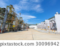 Industrial power plant with blue sky 30096942
