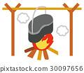 營地 露營 篝火 30097656
