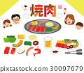 illustration, japanese, dish 30097679