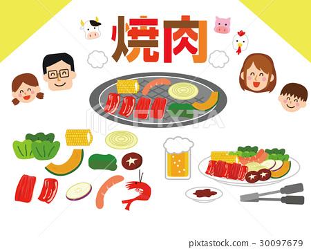 插图 韩国烧烤 韩式烤肉 30097679