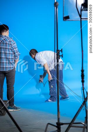 攝影棚,背景師,刷漆,スタジオ、背景部門、絵画,Studio, background paint 30098069