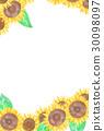 向日葵のポストカード 30098097