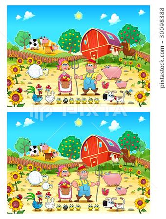 Spot the differences - Stock Illustration 30098388 - PIXTA