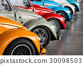 retro vintage car various colors exhibited 30098503