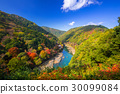 Autumn at Arashiyama view point and Hozu river 30099084