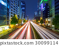 Cityscape of Shinjuku with traffic lights, Tokyo 30099114