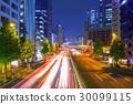 Cityscape of Shinjuku with traffic lights, Tokyo 30099115