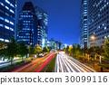 Cityscape of Shinjuku with traffic lights, Tokyo 30099116