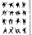silhouettes of ballerinas 30100069