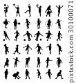 silhouettes of children 30100071