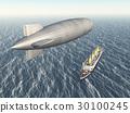 Airship and ocean liner 30100245