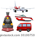 Four types of transportations 30100750